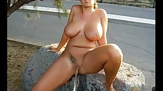 Home D20 - Yummy MILF Pee Along The Road