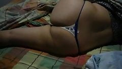 Harshita in sexy thong lying on bed  showing sexy ass