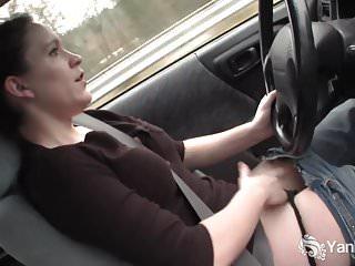Yanks Cutie Lou Lebonne Cums in the Car