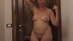 My wife after the shower