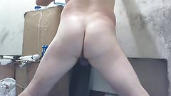 Joey D smooth white butt fun with toys 1