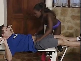 Foriegn exchange student sex - Black exchange student getting fucked by host father