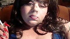BBW Sissy Diane smoking