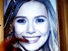 Ebony Cumgate smile Cumtribute for Elizabeth Olsen