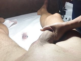 Brazilian Waxing of a Hung MalePart 2 Balls and Shaft.MOV