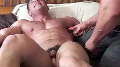 Muscle jocks Derek and Frank torment feet in bondage