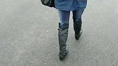Leggings-Girl - Walking in my New Boots
