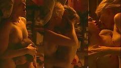 Kate Mara and Ellen Page lesbian sex scene (triple screen)