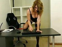 Webcam Softcore Secretary Teases