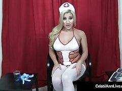 Busty Nurse Cristi Ann Helps Your Hard Dick At A Sperm Bank!'s Thumb