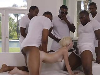 five blacks with big dicks tearing up little blonde