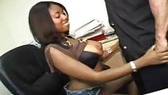 .Nice blowjob by black girl