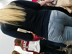 Hot Blonde with Fantastic Ass in jeans