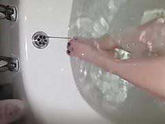 My GF Feet in the bath