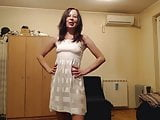 robe blanche transparente