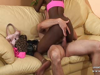 Amateur french black slut ass pounded and face cum covered