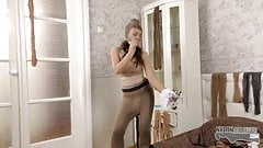 Fucking hot pantyhose encasement with a young slut