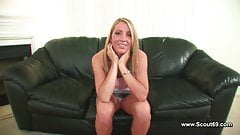 First Time Casting german teen Angela with black creampie