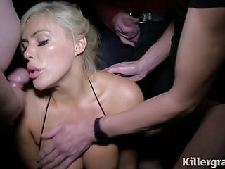 Hot blonde Milf sex cinema bukkake