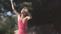 Valerie amazing brunette babe getting naked outdoor!!