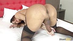 Kalliny Nomura Jerks her Big TGIRL cock