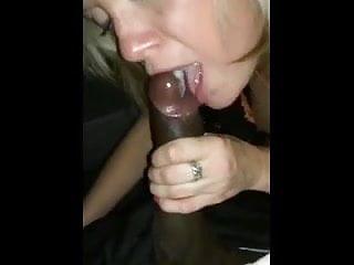 sucking cum out