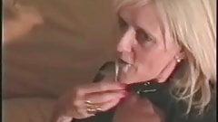 Blonde granny MILF in bodystockings