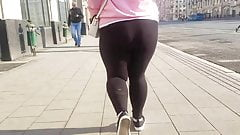 Fat ass in black pants