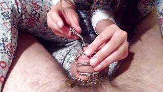 Locked 'n plugged - young chastity couple
