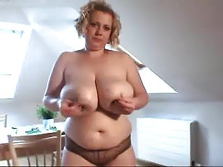 Big tits wife in the shower