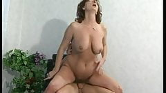 Mature with hairy pussy gets banged by younger pal