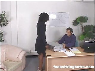 Company dildo reciprocating - Ebony employee punished by the entire company