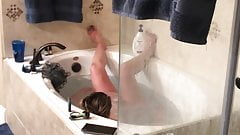 Wife caught with bathtub jets.