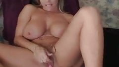 Check My MILF with big tits playing with her tight pussy