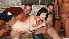 A threesome that left her with a very sticky face