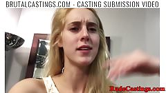 Real teen bound and gagged at casting