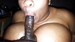 Black Woman Sucking Dick & Titty Fucking