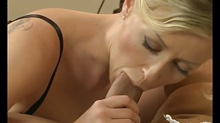 Blonde MILF lubricates lover's cock 18-43