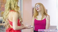Cherie and Ivy in hot lesbian action