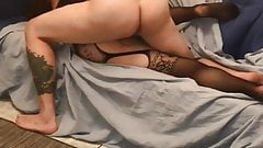 Young bull pays Hotwife a visit again