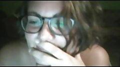 Cute italian girl do all for me on skype