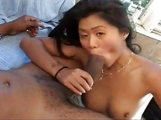 Hot Asian pussy pumped hard by monster black cock