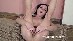 Eva Lisana masturbates after taking off her dress
