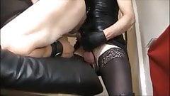 T Vita Dom Tease, touch the leather, tvtaboo transvestite