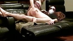 Beautiful CD gurl Alhenia Adams pleasing a man on tge couch
