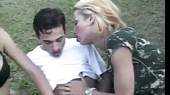 Papa - Hot Transsexual Threesome In The Park