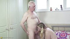 Old father fucks young daughte