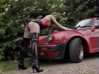 vintage hooker in car