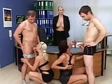 Blonde Mature Teaches Fellatio To Her Students