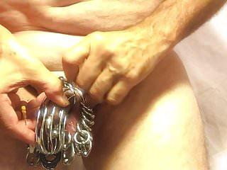 pierced slavedick in chastity per bariobear